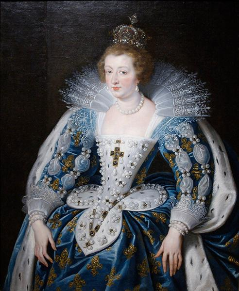 Anna of Austria, queen of France, mother of king Louis XIV, 1622 - 1625 - Peter Paul Rubens