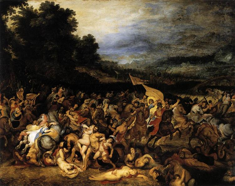 The Battle of the Amazons, c.1600 - Peter Paul Rubens
