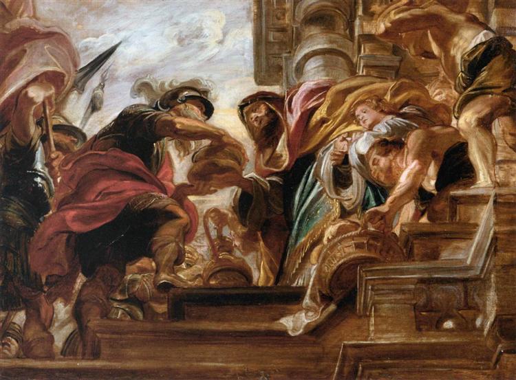 The Meeting of Abraham and Melchisedek, 1620 - 1621 - Peter Paul Rubens
