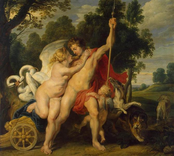 Venus and Adonis, c.1614 - Peter Paul Rubens