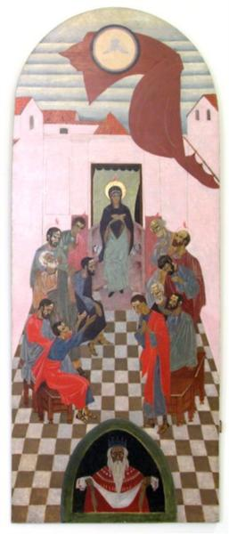 Icon The Descent of the Holy Spirit - Petro Kholodny (Elder)