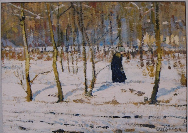 Winter in the Forest (sketch) - Petro Kholodny (Elder)