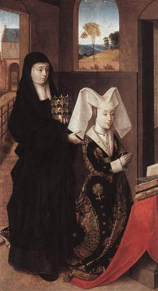 Isabella Of Portugal With St. Elizabeth, c.1457 - c.1460 - Петрус Кристус