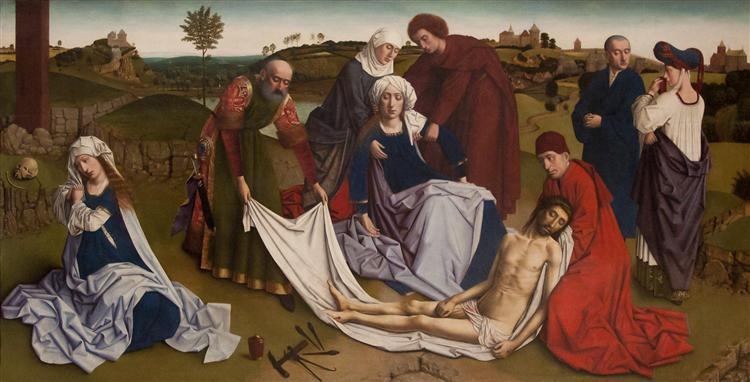 The Lamentation over the Dead Christ, c.1455 - c.1460 - Петрус Кристус