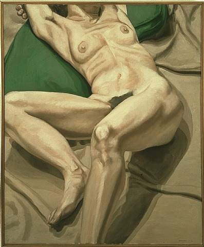 Philip Pearlstein-Nude on Green Cushion