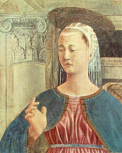 Annunciation (detail) - Piero della Francesca - WikiArt.org