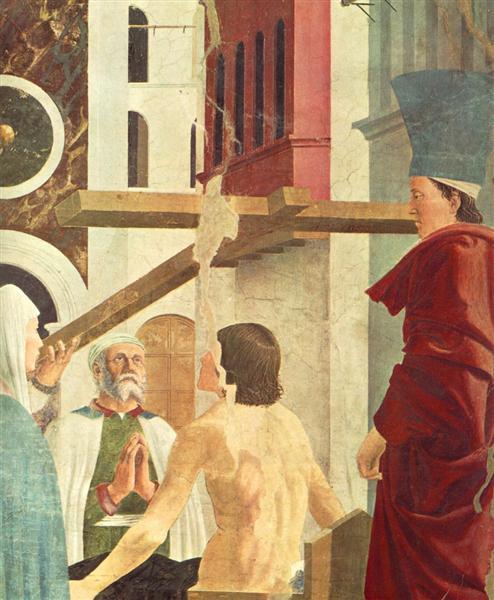 Recognition of the True Cross (detail), 1452 - 1466 - Piero della Francesca