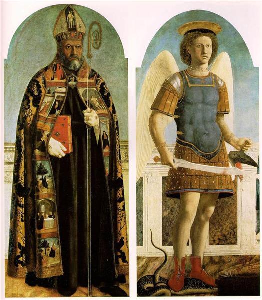 St. Augustine and St. Michael, 1454 - 1469 - Piero della Francesca