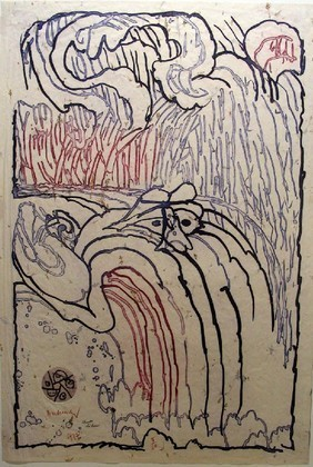 Free Fall (Chute libre), 1977 - Pierre Alechinsky