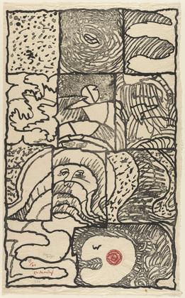 Full Page (Pleine page), 1976 - Pierre Alechinsky