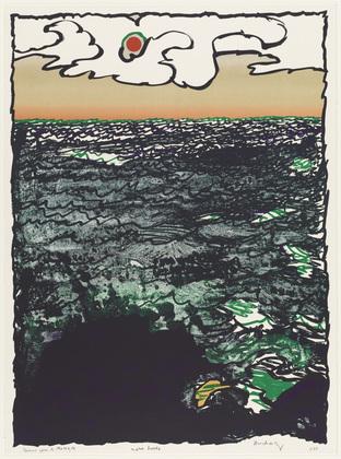 High Tide (Marée haute), 1977 - Pierre Alechinsky