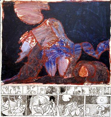 Le complexe du sphinx, 1967 - Pierre Alechinsky