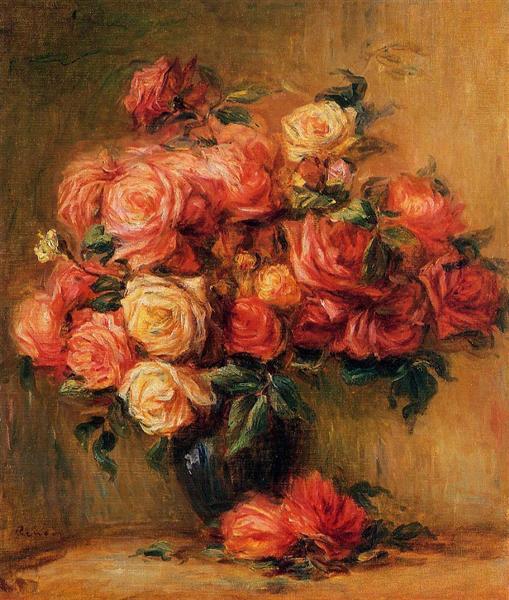 Bouquet of Roses, c.1890 - 1900 - Pierre-Auguste Renoir
