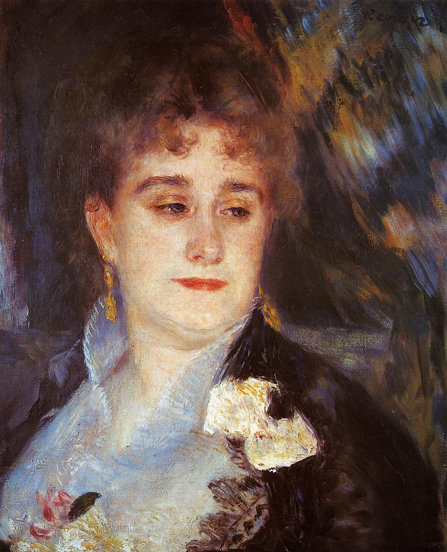 Portrait of Lucie Berard, 1879 - Pierre-Auguste Renoir ... |Renoir Portraits