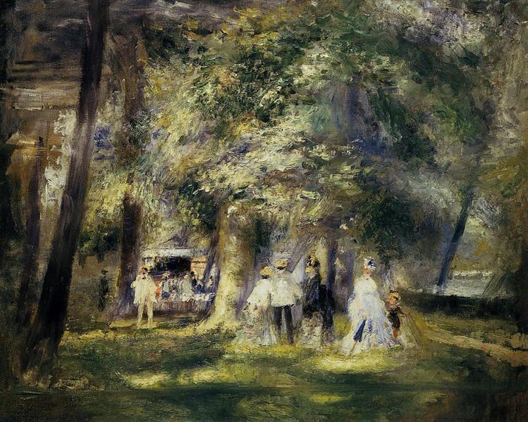 In St Cloud Park, 1866 - Pierre-Auguste Renoir