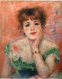 Jeanne Samary in a Low Necked Dress - Pierre-Auguste Renoir