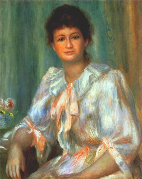 Portrait of a young woman in white, 1901 - Pierre-Auguste Renoir