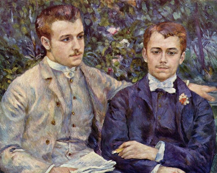 Portrait of Charles and Georges Durand Ruel, 1882 - Pierre-Auguste Renoir