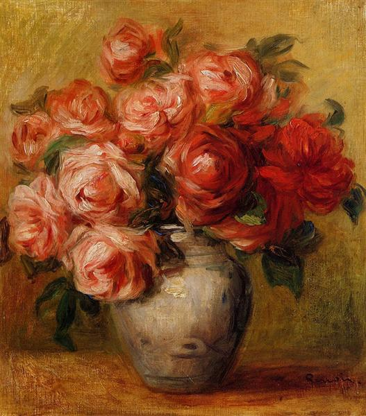 Still Life with Roses - Pierre-Auguste Renoir