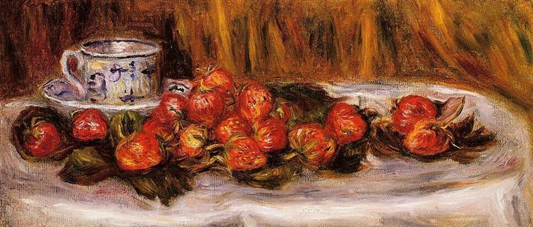 Still Life with Strawberries, c.1905 - Pierre-Auguste Renoir