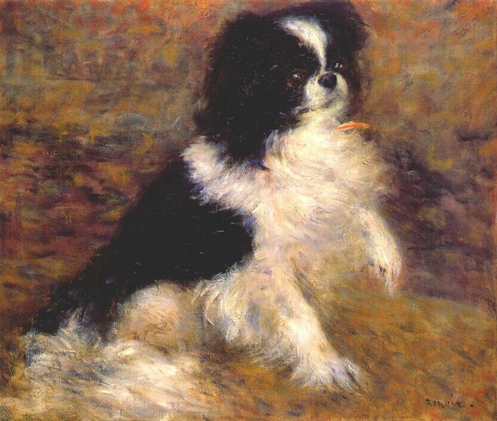 Tama the japanese dog, c.1876 - Pierre-Auguste Renoir