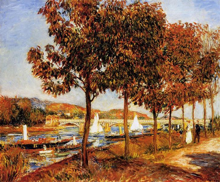 The Bridge at Argenteuil in Autumn, 1882 - Pierre-Auguste Renoir