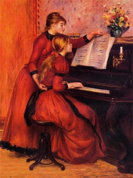 The Piano Lesson, 1889 - Pierre-Auguste Renoir