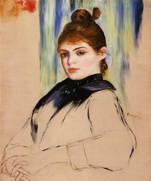 Young Woman with a Bun in Her Hair, 1882 - Pierre-Auguste Renoir
