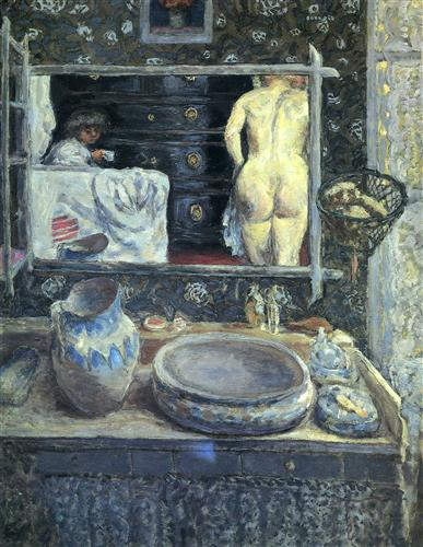 Mirror on the Wash Stand - Pierre Bonnard