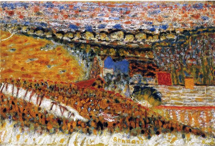 autumn paintings famous artists: Pierre Bonnard, Autumn View,