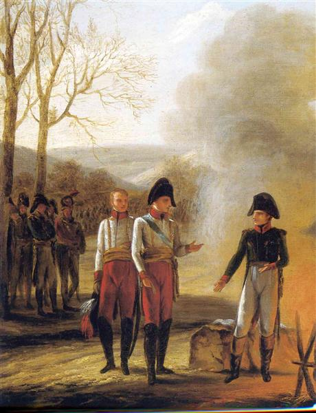 The conversation of Napoleon and Francois II, 1808 - Pierre-Paul Prud'hon