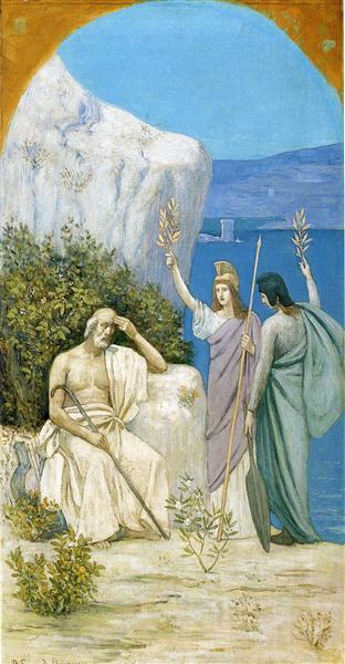 Homer: Epic Poetry, 1895 - Pierre Puvis de Chavannes