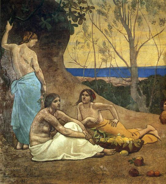 The Happy Land (detail), 1882 - Pierre Puvis de Chavannes