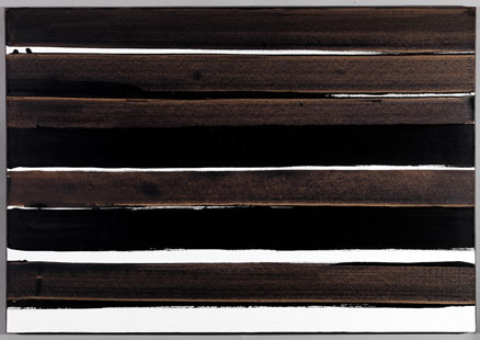 A-Walnut Stain, 2004 - Pierre Soulages