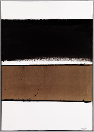 B-Walnut Stain, 1998 - Pierre Soulages