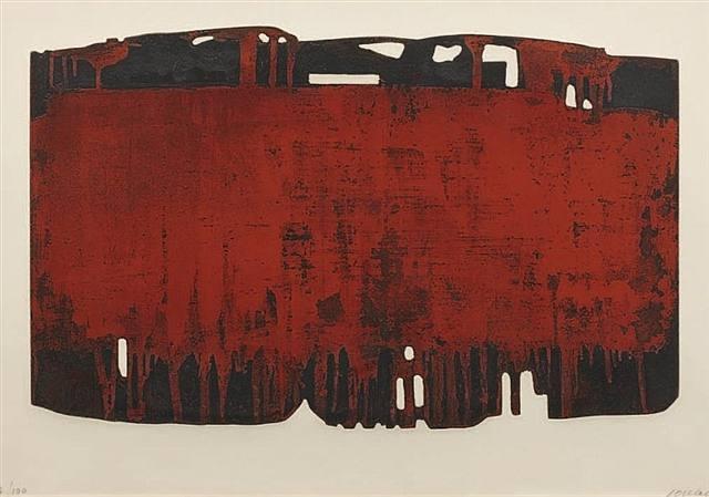 Pierre Soulages. Ruggine e nero XXV. 1974.