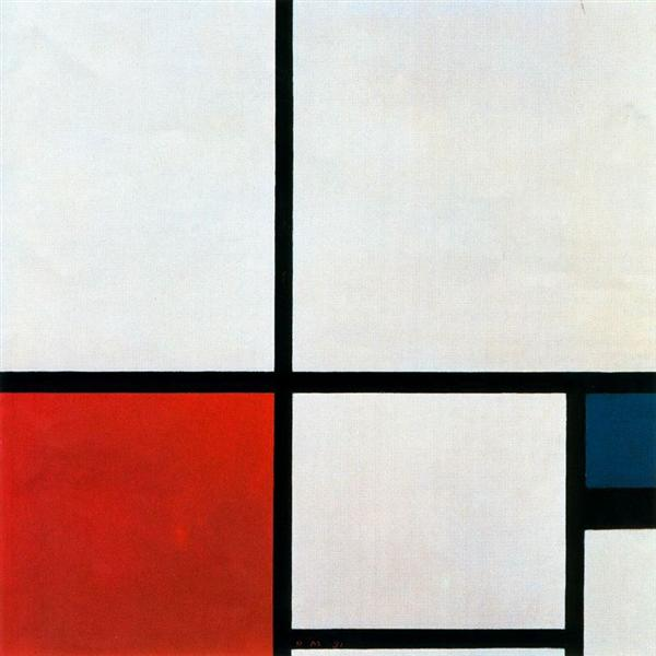 Composition N. 1 with Red and Blue, 1931 - Piet Mondrian