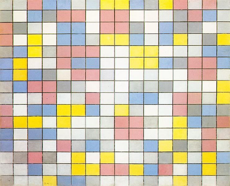Composition with Grid IX, 1919 - Piet Mondrian