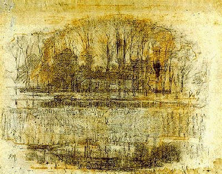 Geinrust Farm, Compositional Study, 1906 - Piet Mondrian
