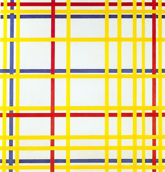 New York City I - Piet Mondrian