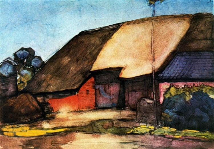 Small farm on Nistelrode, 1904 - Piet Mondrian