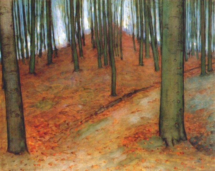 Wood with Beech Trees, 1899 - Piet Mondrian