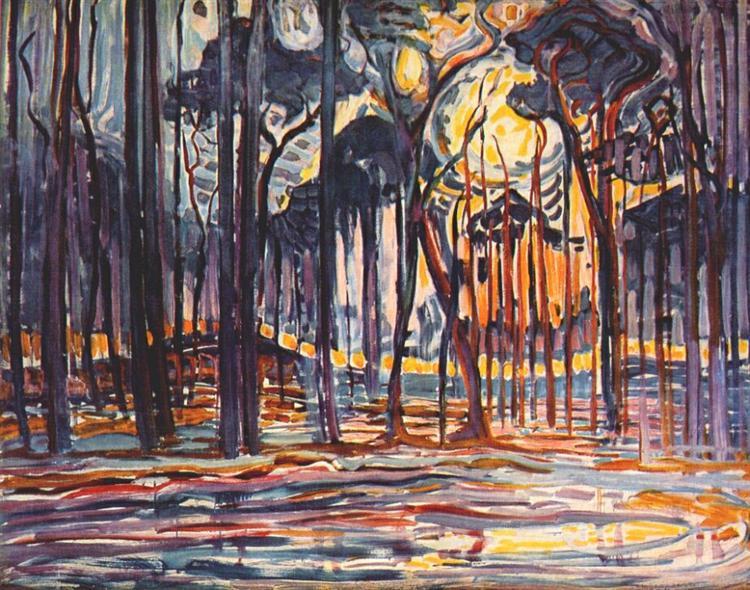 Woods near Oele, 1908 - Piet Mondrian