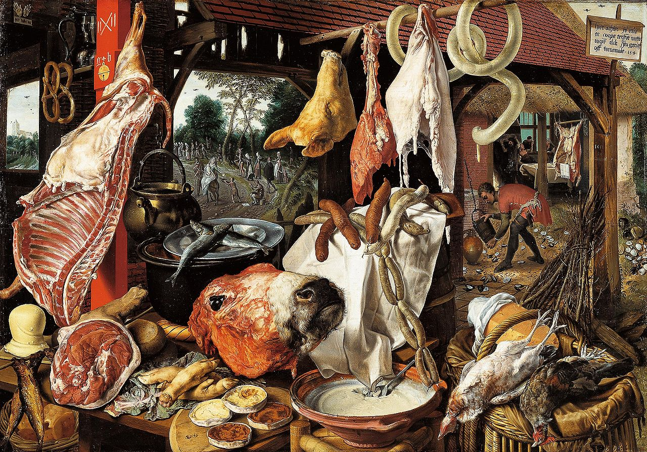 Butcher's Stall with the Flight into Egypt, 1551