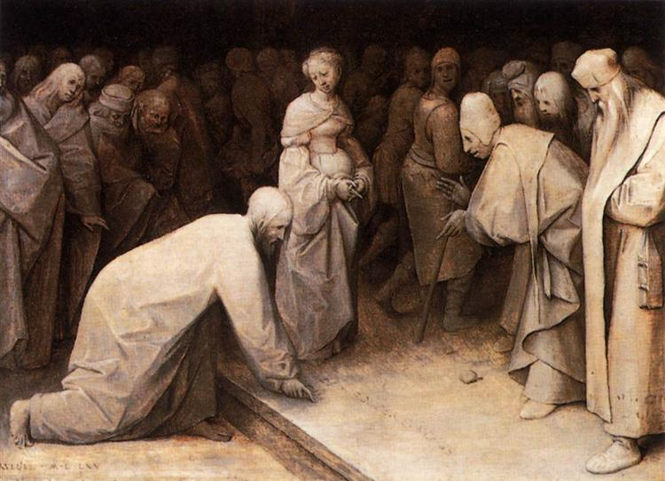 Christ and the Woman taken in Adultery, c.1565 - Pieter Bruegel the Elder