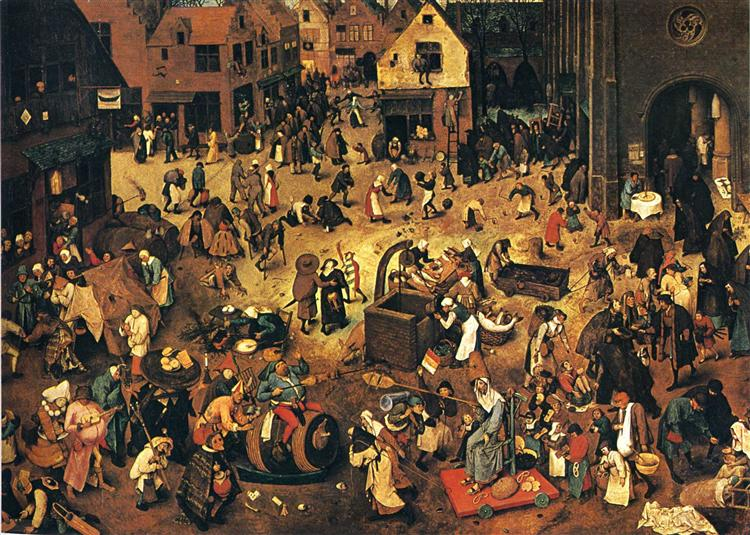 The Fight between Carnival and Lent - Bruegel the Elder Pieter