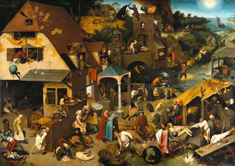 Netherlandish Proverbs, 1559 - Pieter Bruegel the Elder
