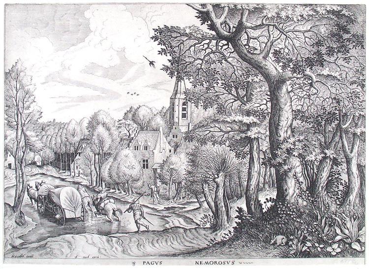Wooded Region, 1565 - 1566 - Pieter Bruegel the Elder