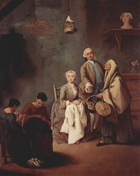 Women Sewing - Pietro Longhi