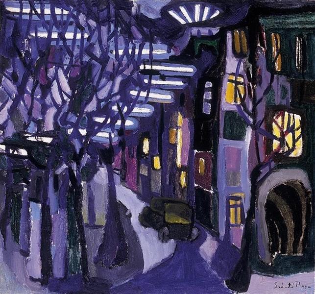 Evening Lights, 1959 - Piroska Szanto